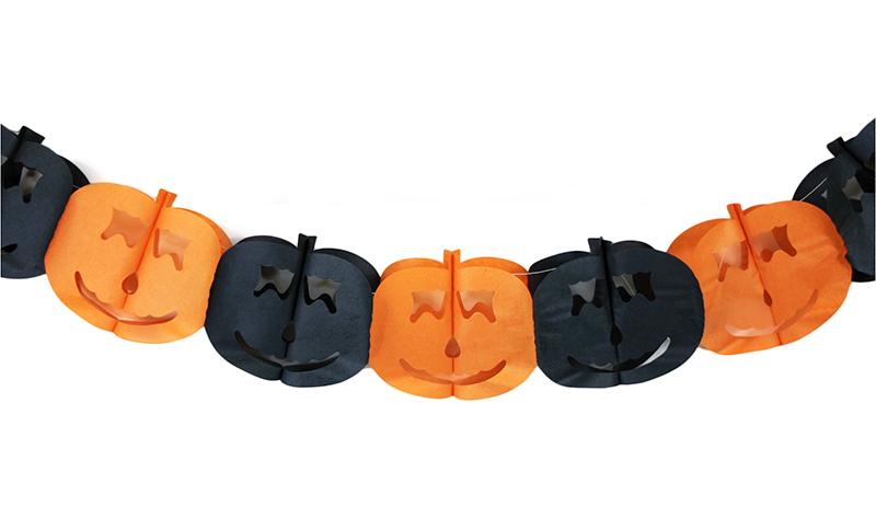 Girlanda papírová Halloween dýně 4 m