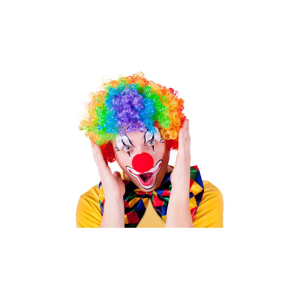 Paruka klaun barevná pro dospělé