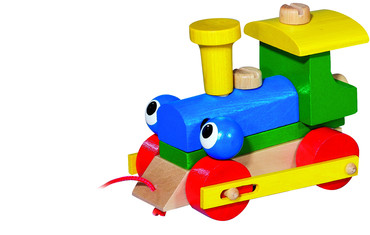 Dřevěná mrkací mašinka