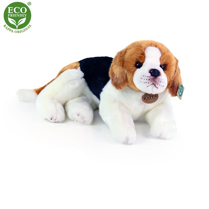 Plyšový pes bígl ležící 38 cm ECO-FRIENDLY