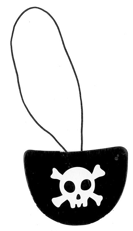 klapka na oko pirátská 6 ks v sáčku