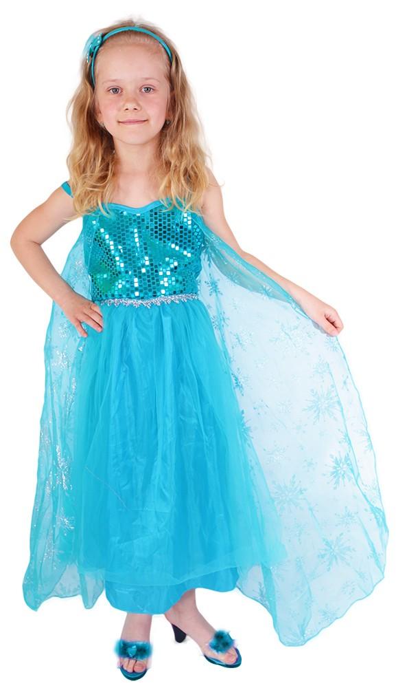 Dětský kostým princezna zimní království Eliška DE