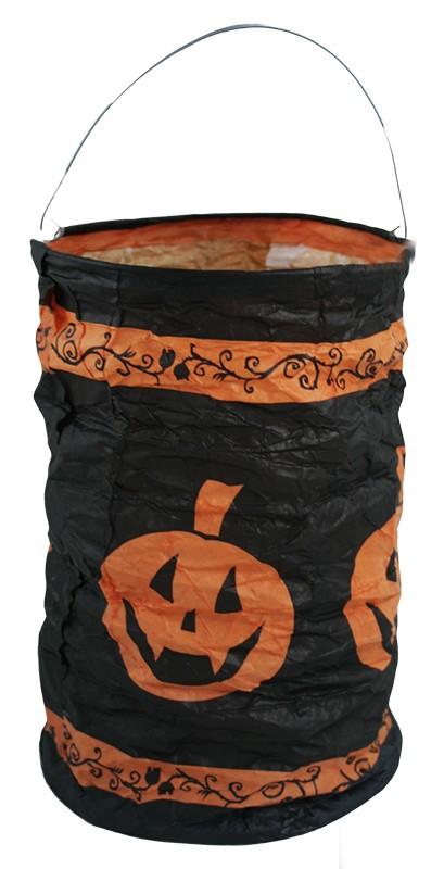 Lampion Halloween - dýně čajová svíčka 15 cm