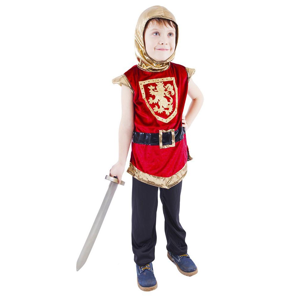 Dětský kostým rytíř s erbem červený (M)