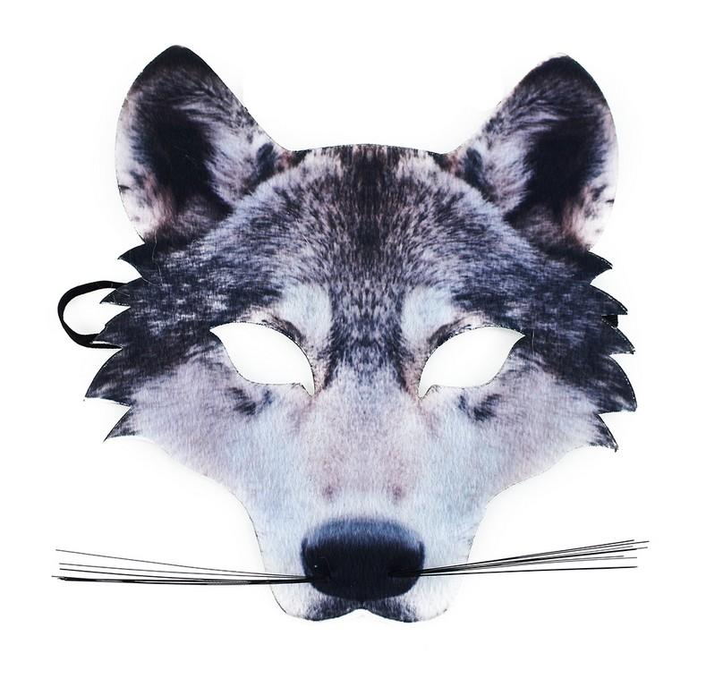 Maska vlk s vousy dětská