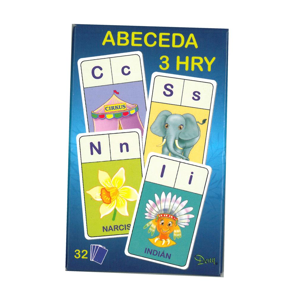Karty Abeceda 3 hry