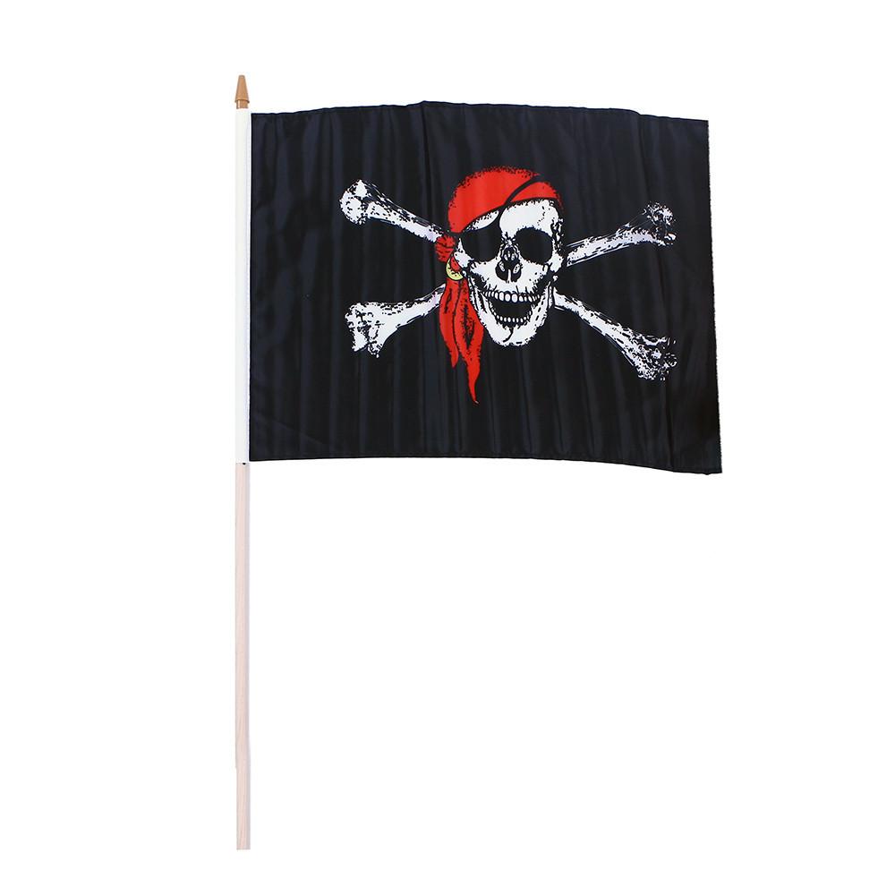 Vlajka pirátská 47x30 cm