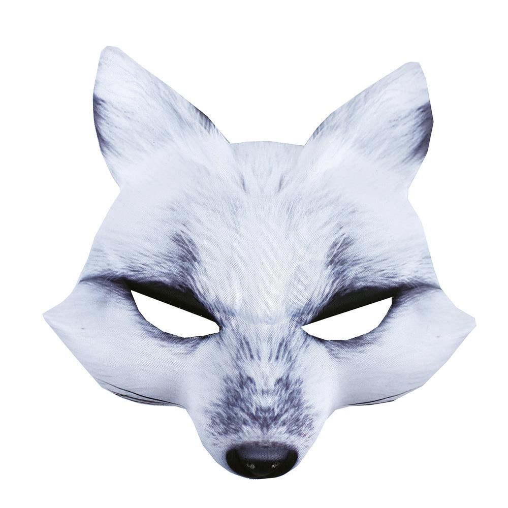Maska bílá liška