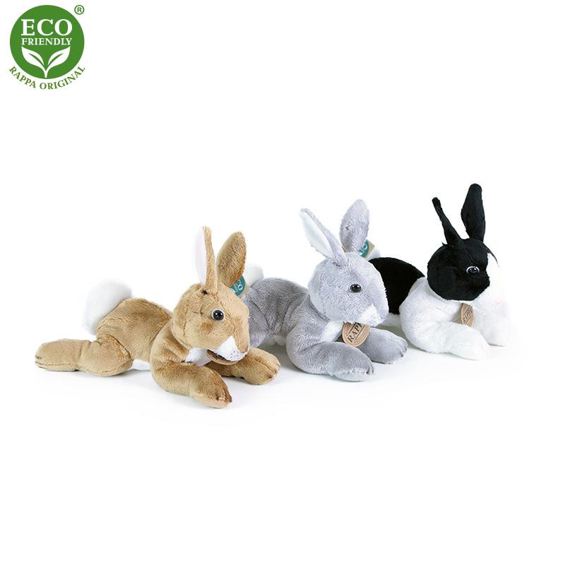 Plyšový králík ležící 3 druhy 18 cm