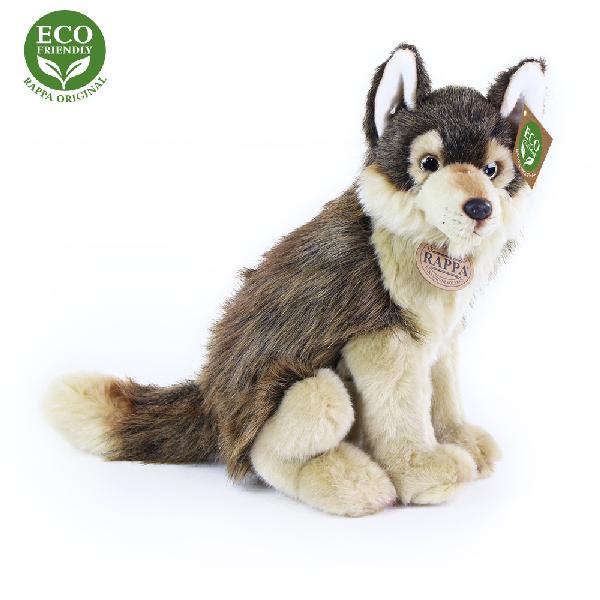 Plyšový vlk sedící 28 cm ECO-FRIENDLY