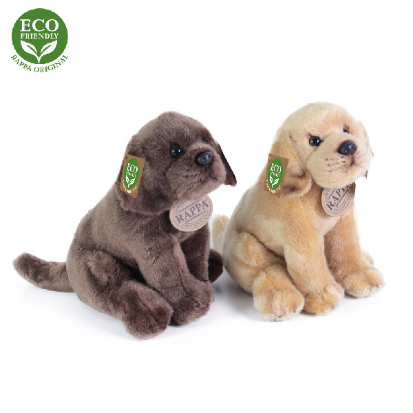 Plyšový pes labrador sedící 20 cm ECO-FRIENDLY