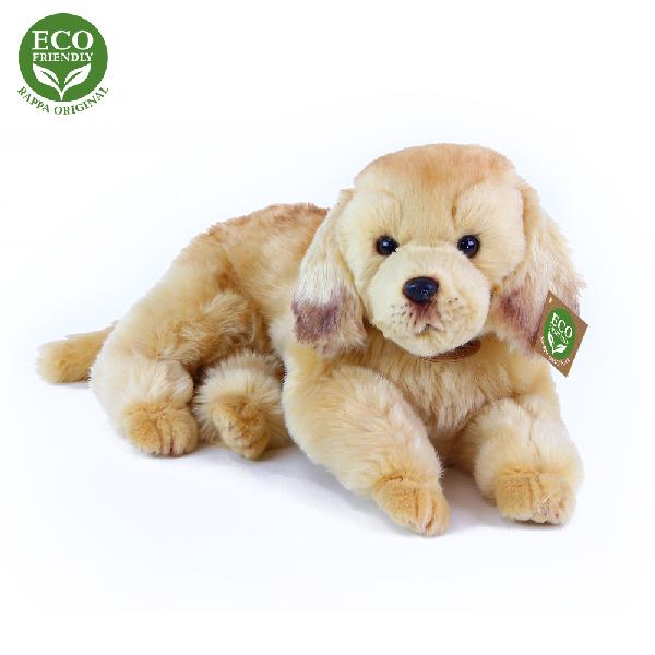Plyšový pes zlatý retrívr ležící 32 cm ECO-FRIENDL