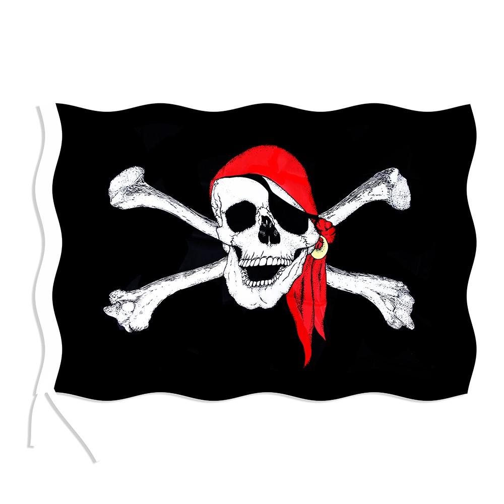 Vlajka pirátská 90x150 cm