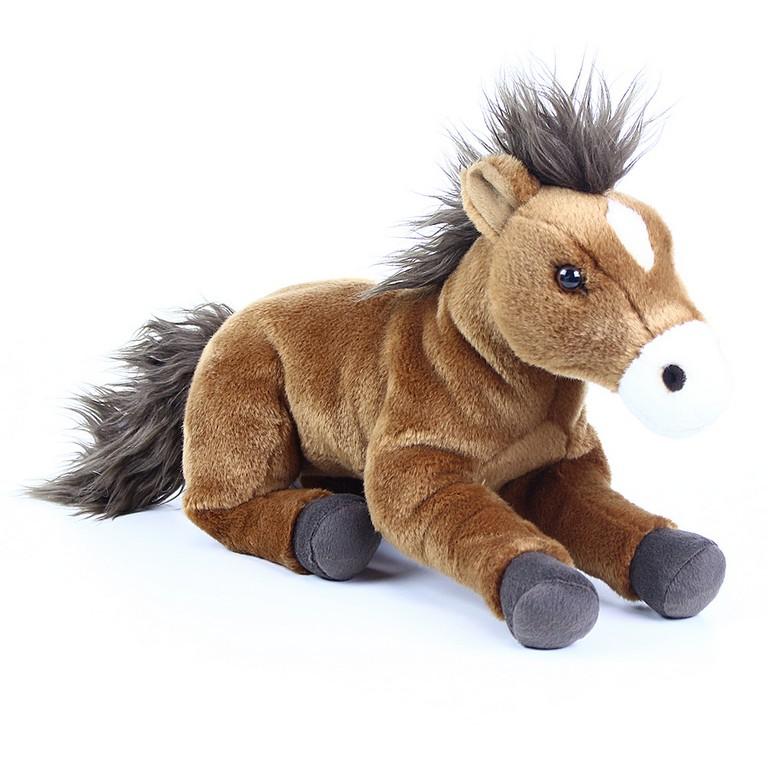 Plyšový kůň ležící 35 cm ECO-FRIENDLY