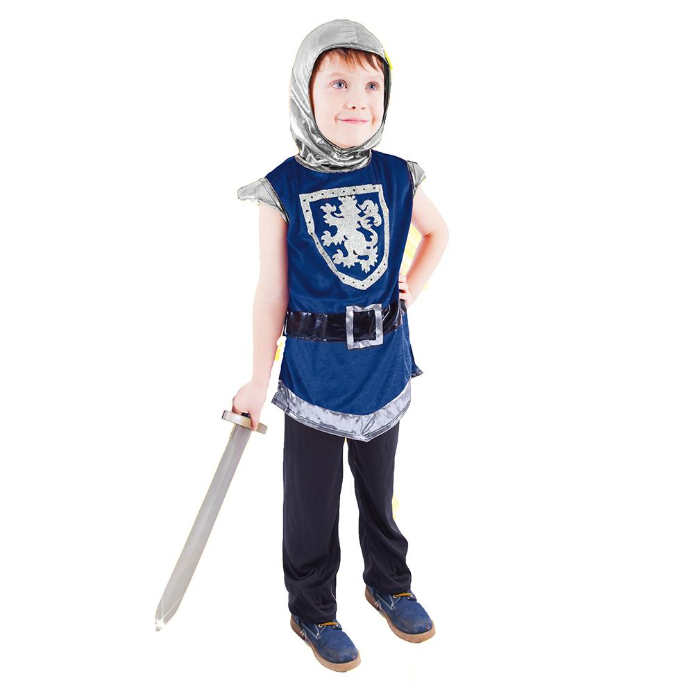 Dětský kostým rytíř s erbem modrý (M)