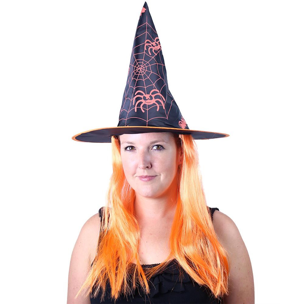 Klobouk čarodějnice/Halloween s vlasy