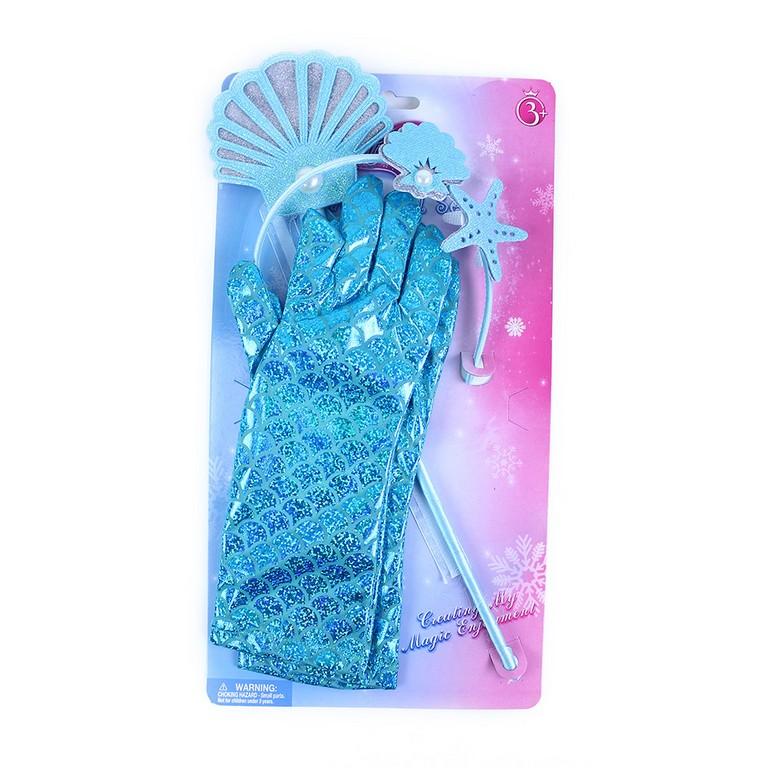 Sada mořská víla s rukavicemi modrá