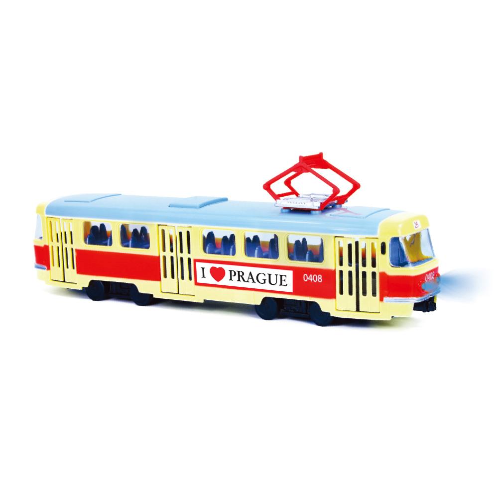 Tramvaj která hlásí zastávky česky 28 cm PRAGUE