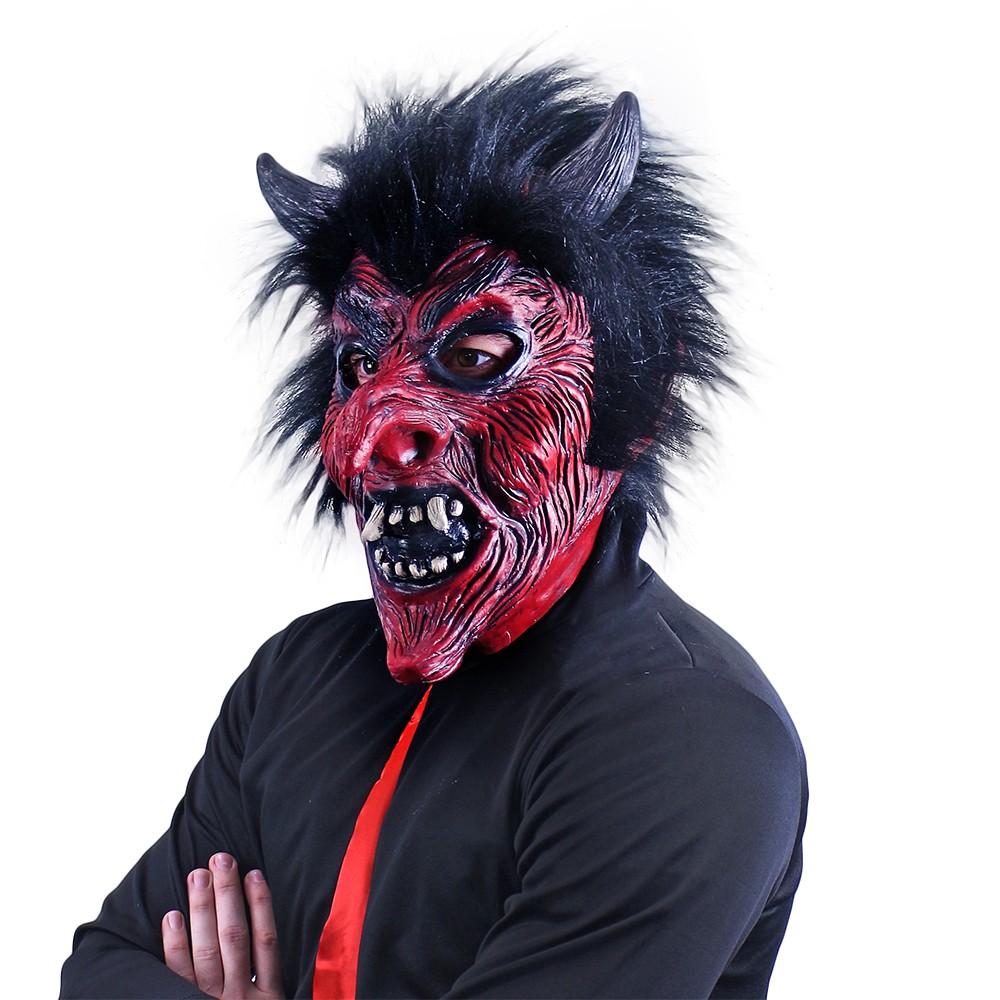 Maska čert s vlasy dospělá