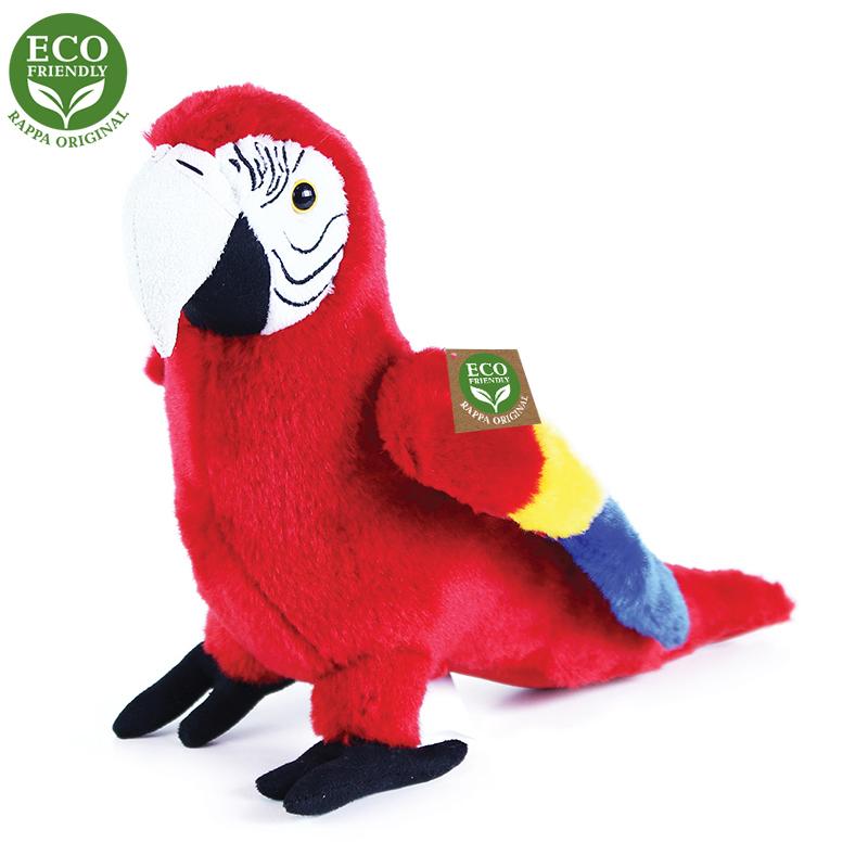 Plyšový papoušek červený Ara Arakanga 24 cm ECO-FR