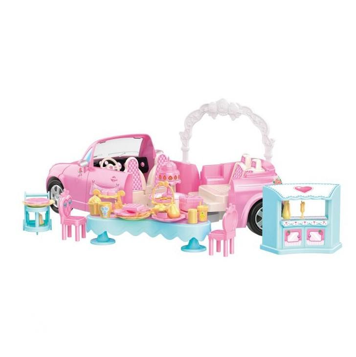 Panenka nevěsta s rozložitelným autem a příslušens
