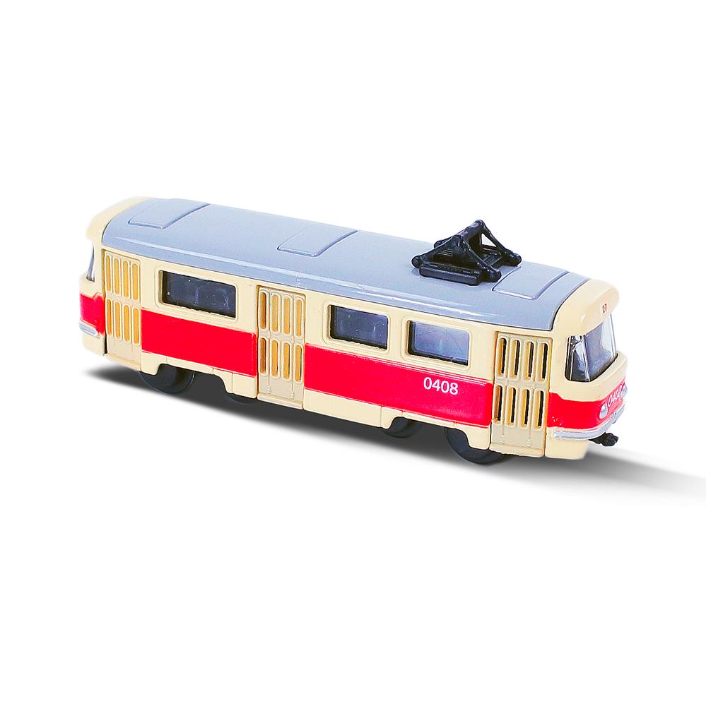 Kovová česká retro tramvaj mini 8.5 cm