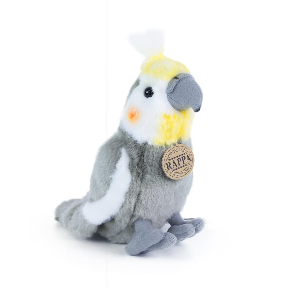 plyšový papoušek Korela chocholatá 20cm ECO-FRIEND