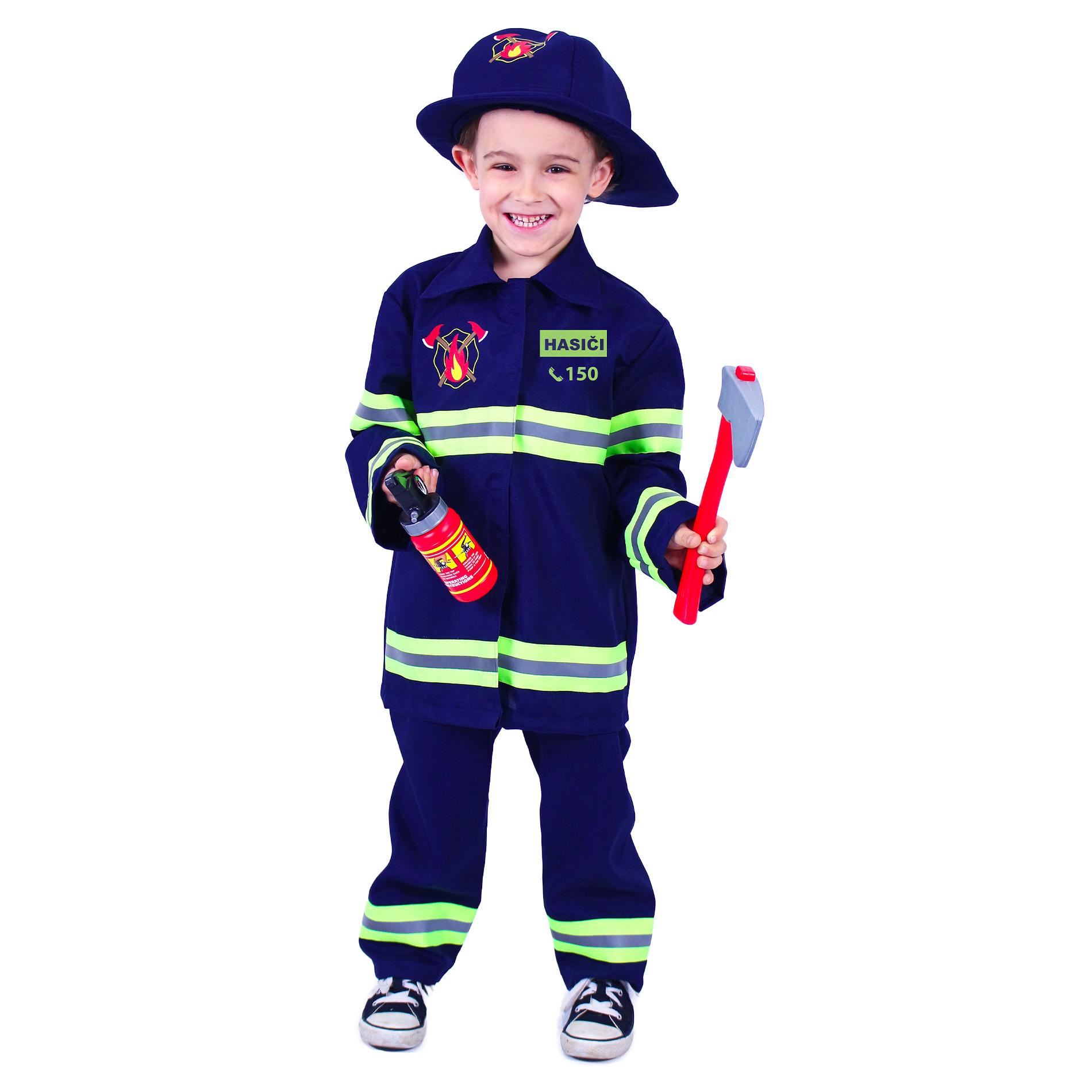 Dětský kostým hasič s českým potiskem (M)