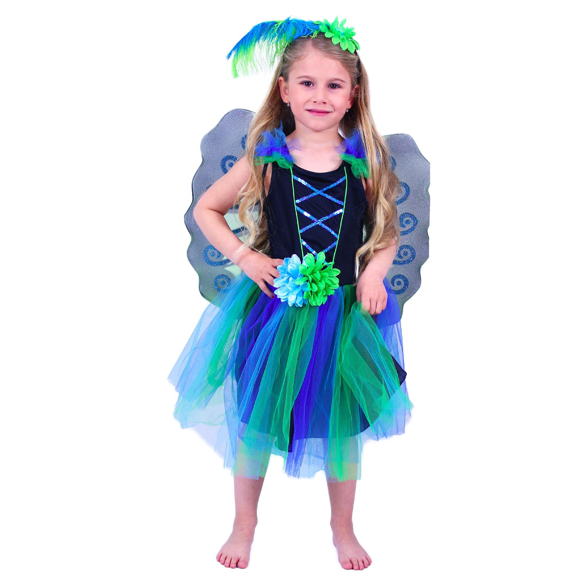 Dětský kostým paví víla (M)