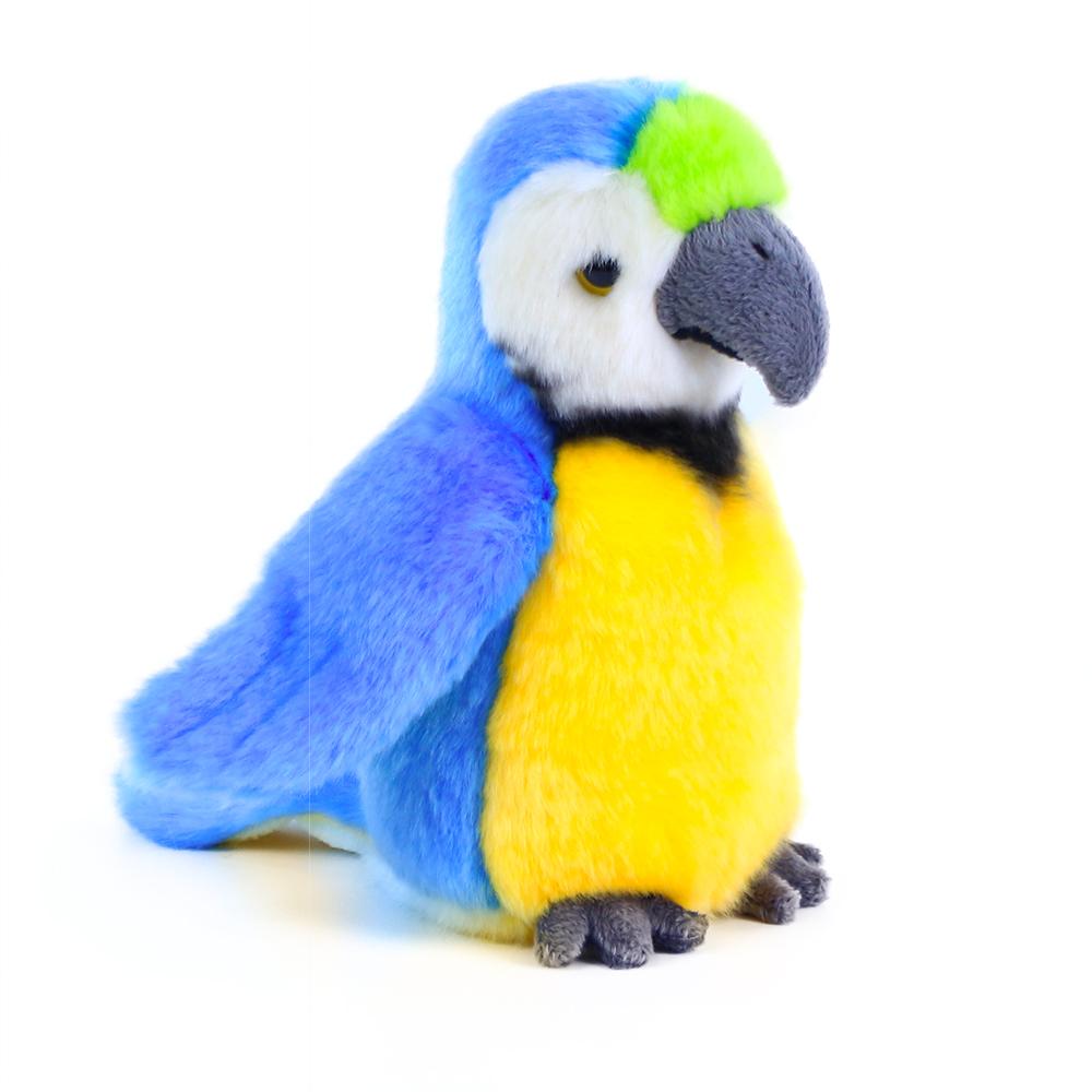 plyšový papoušek modrý 19 cm