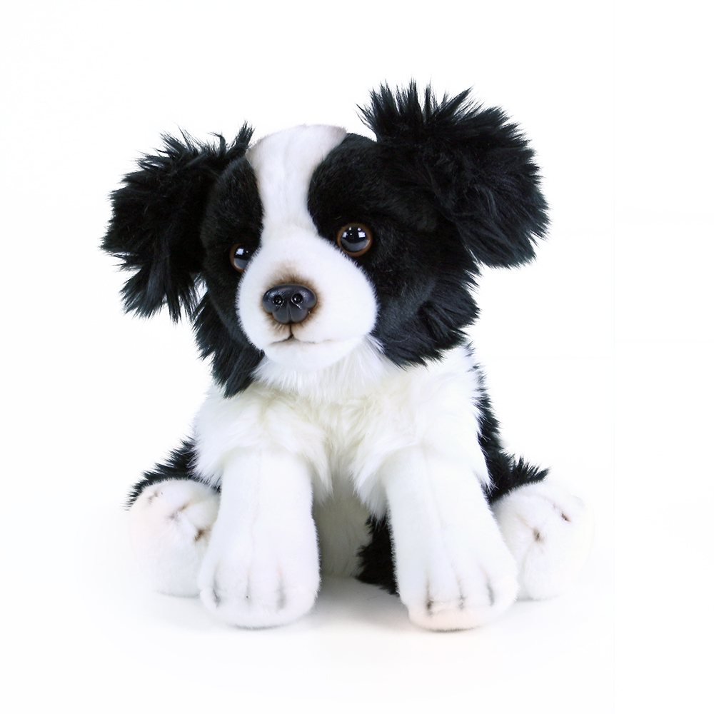 Plyšový pes Border kolie sedící 28 cm ECO-FRIENDLY