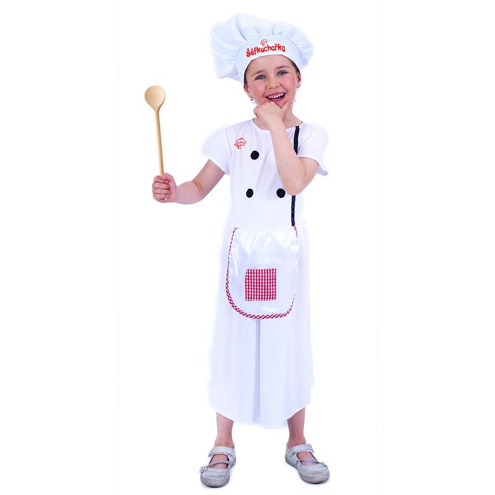 Dětský kostým kuchařka (S)