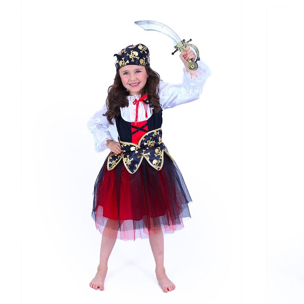 Dětský kostým pirátka (M)