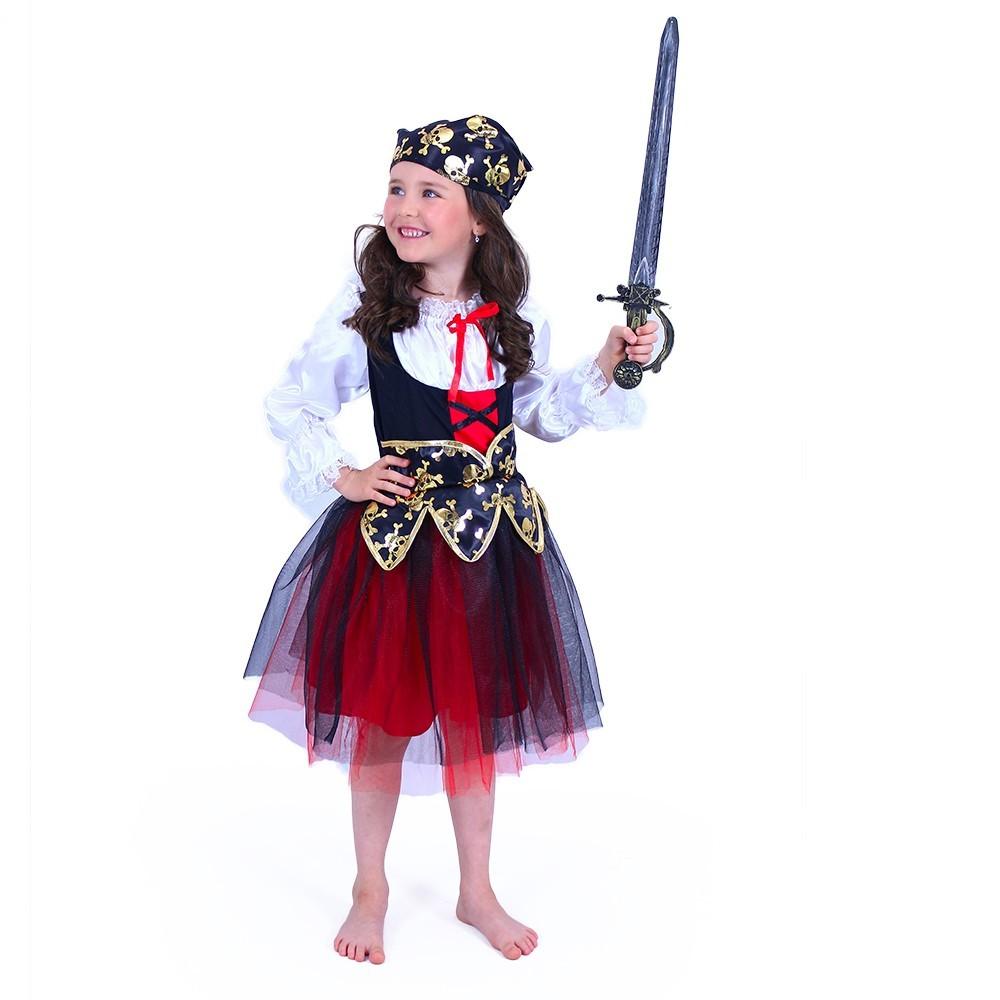 Dětský kostým pirátka (S)