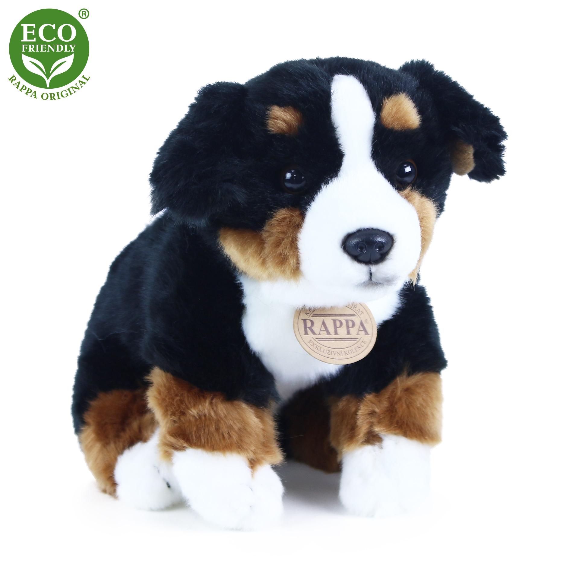 Plyšový bernský salašnický pes sedící 25 cm ECO-FR