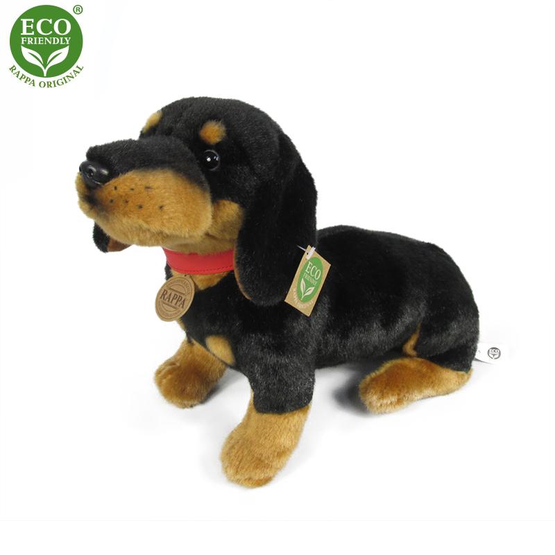 Plyšový pes jezevčík 30 cm ECO-FRIENDLY
