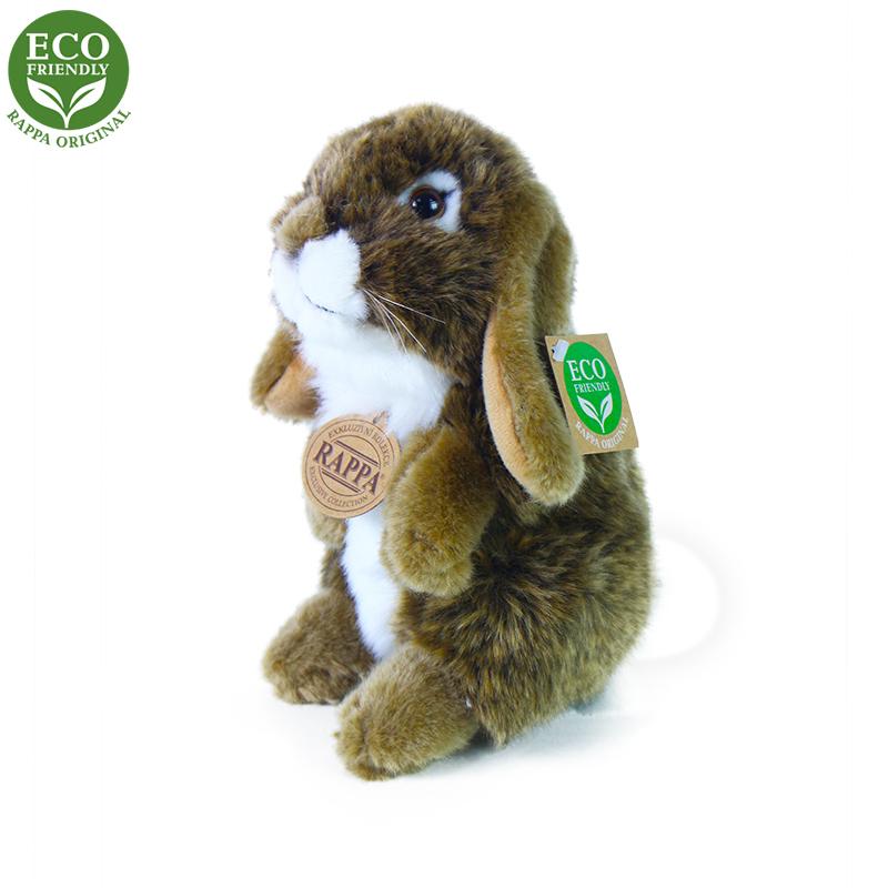 Plyšový králík hnědý stojící 18 cm ECO-FRIENDLY