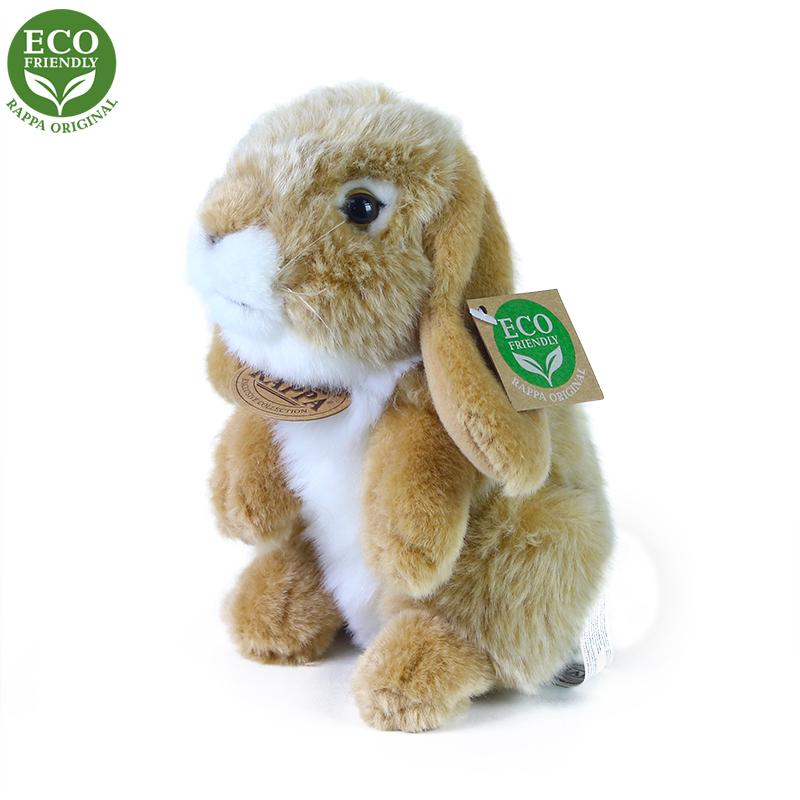 Plyšový králík béžový stojící 18 cm ECO-FRIENDLY