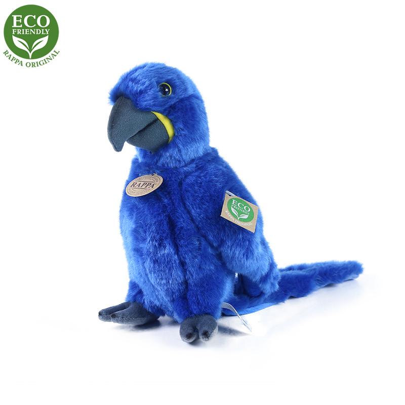 Plyšový papoušek modrý Ara Hyacintový stojící 23 c