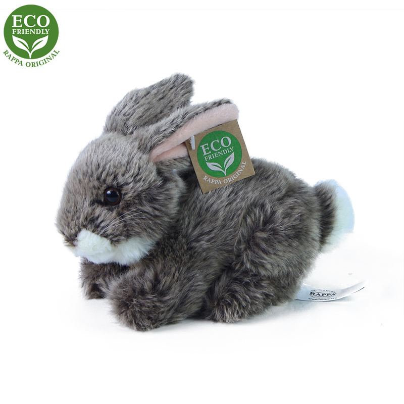 Plyšový králík tmavě šedý ležící 17 cm ECO-FRIENDL