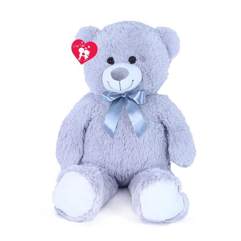 Velký plyšový medvěd Hugo s visačkou 80 cm