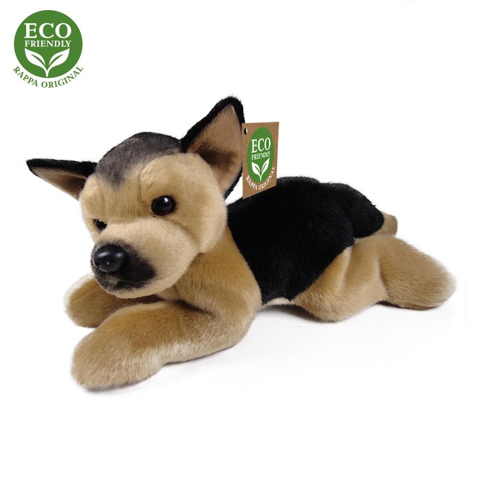 Plyšový pes německý ovčák ležící 30 cm ECO-FRIENDL