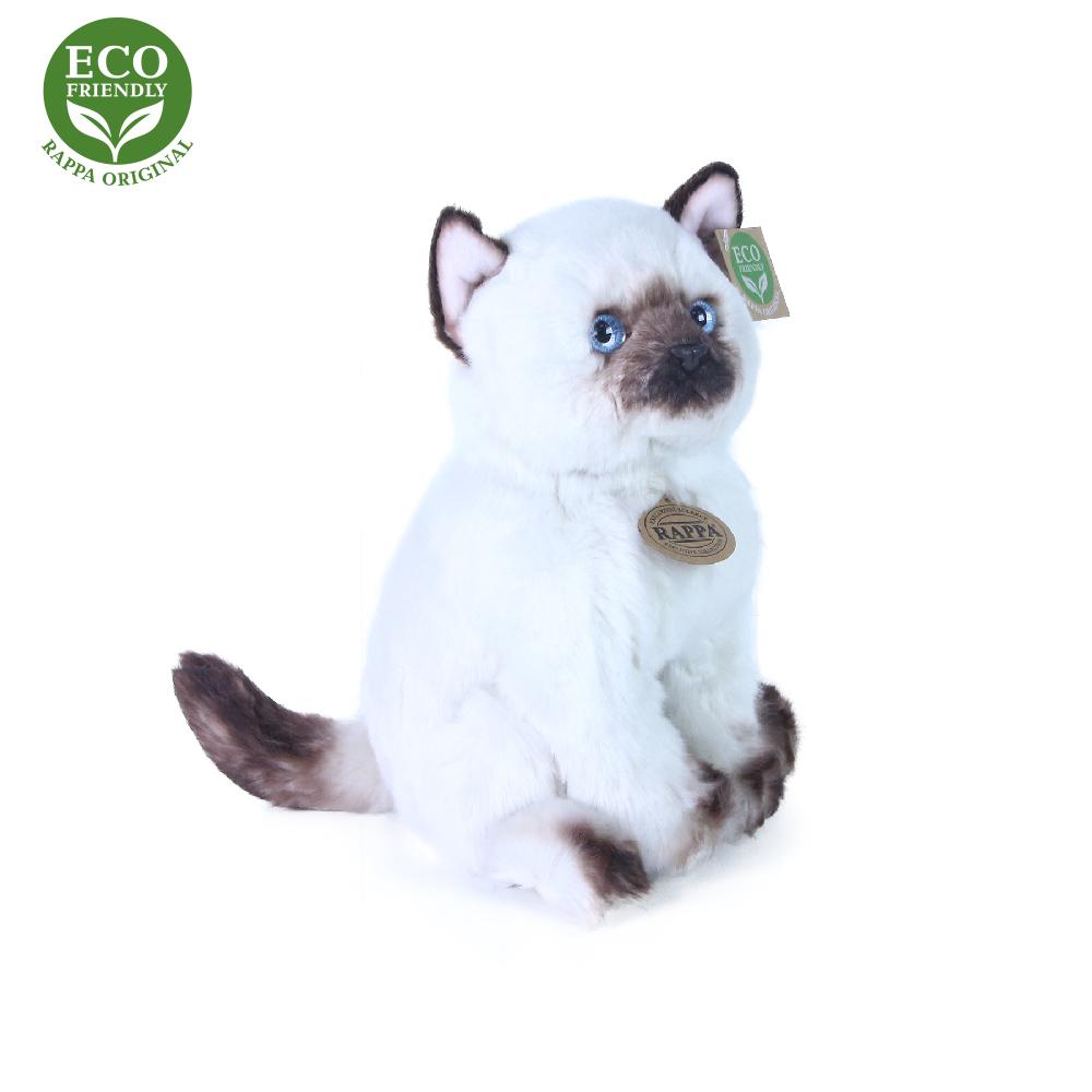 Plyšová kočka siamská sedící 25 cm ECO-FRIENDLY