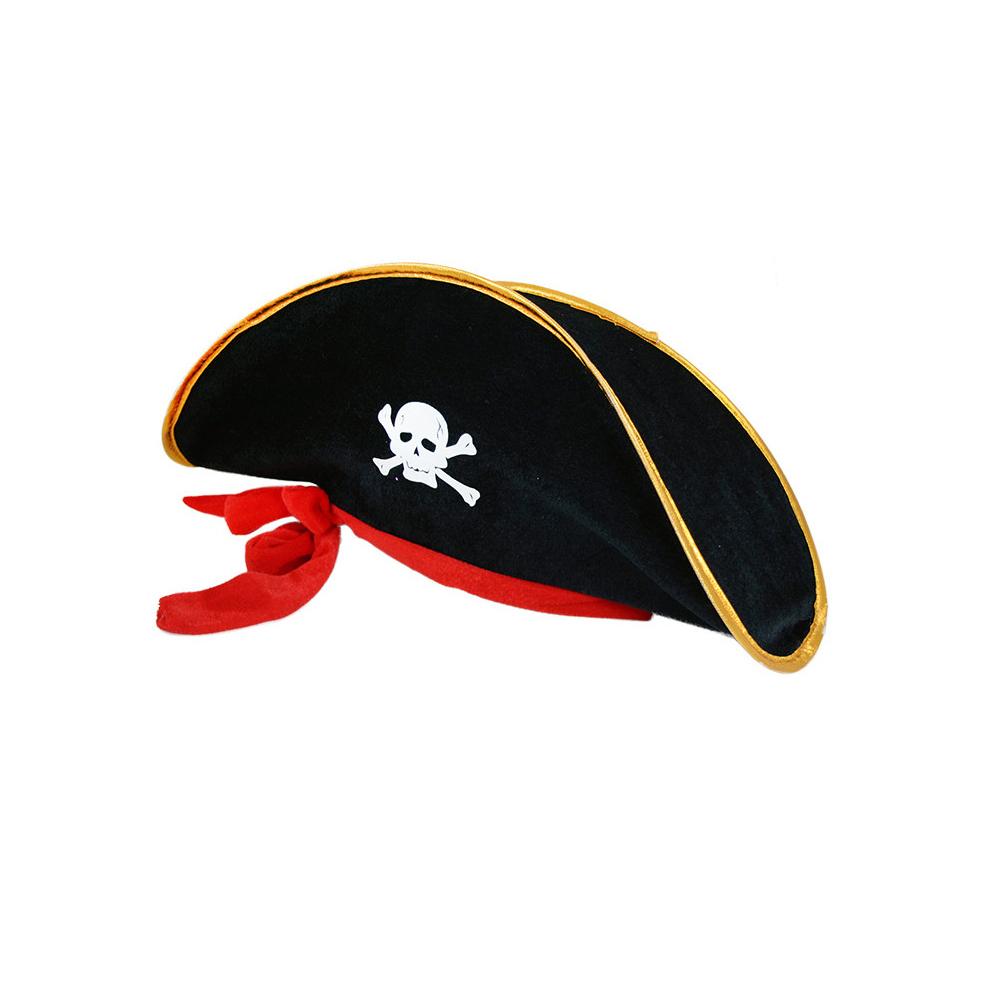Klobouk kapitán pirát se stuhou pro dospělé