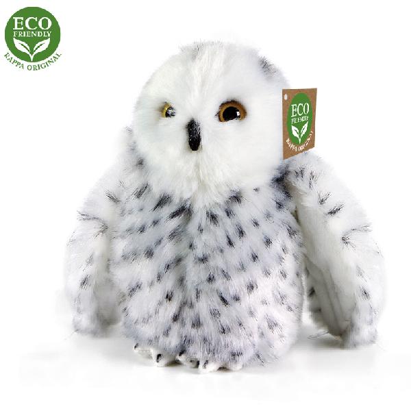 Plyšová sova sněžná 18 cm ECO-FRIENDLY