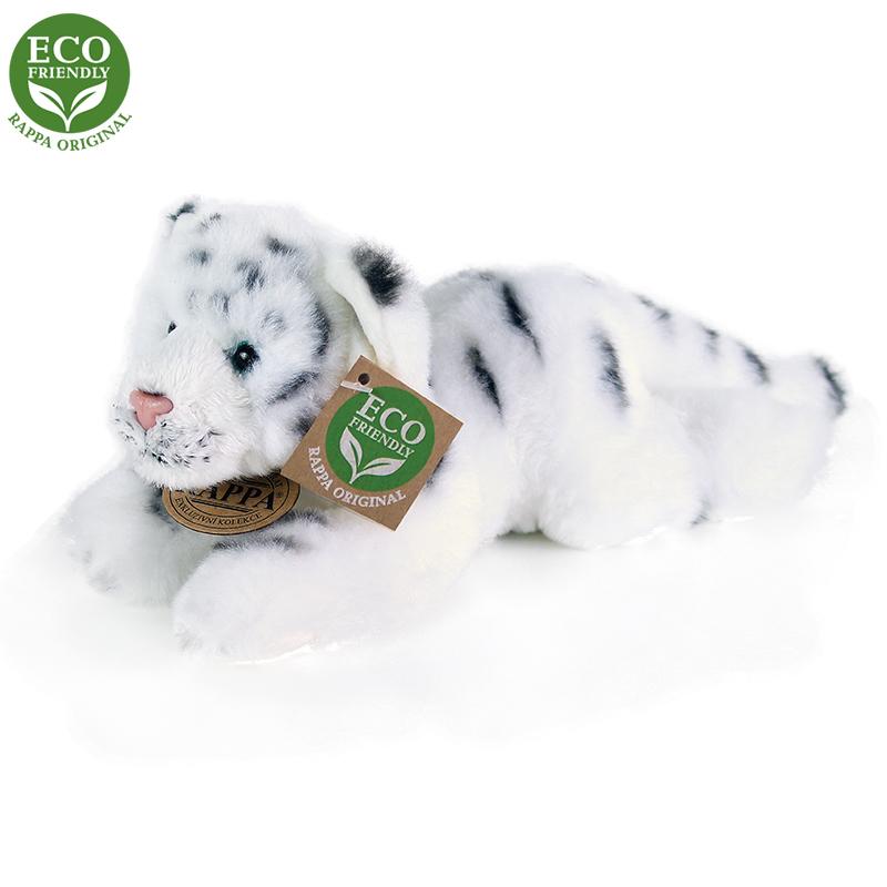 Plyšový tygr bílý ležící 17 cm ECO-FRIENDLY