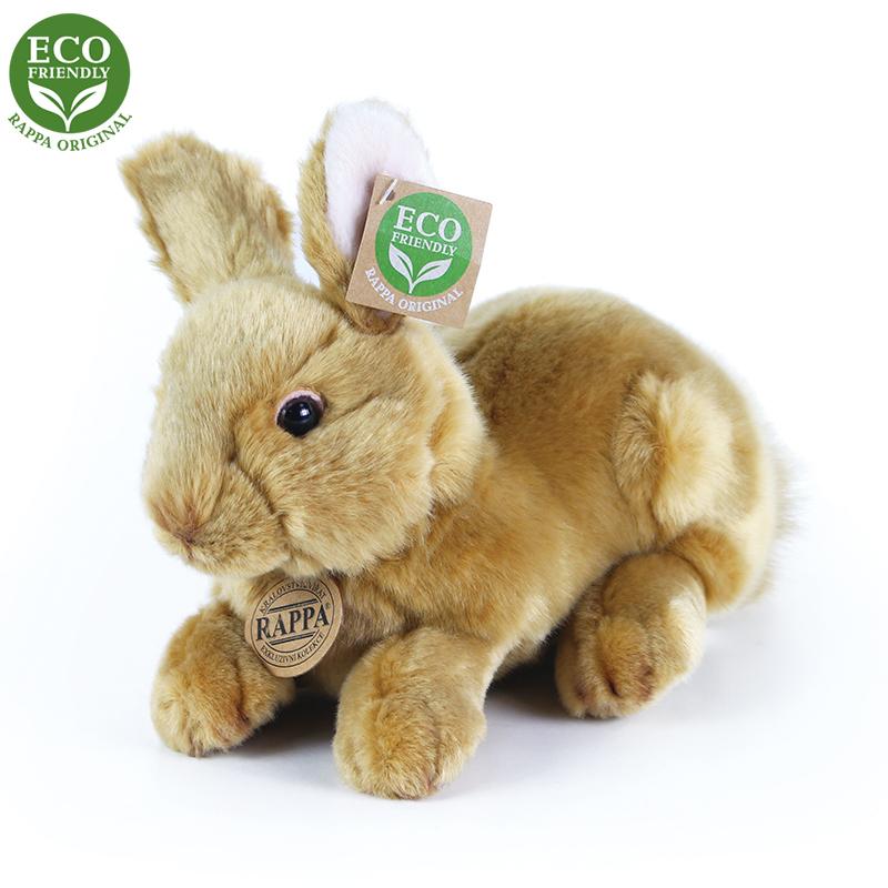 Plyšový králík hnědý ležící 23 cm ECO-FRIENDLY
