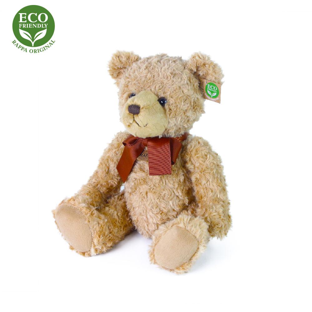 Plyšový medvěd retro s mašlí sedící 30 cm ECO-FRIE