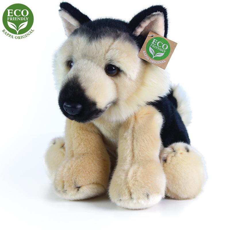 Plyšový pes německý ovčák sedící 30 cm ECO-FRIENDL