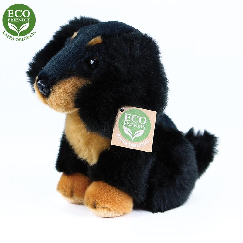 Plyšový pes jezevčík sedící 18 cm ECO-FRIENDLY